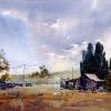 Near Bathurst, Watercolour landscape painting